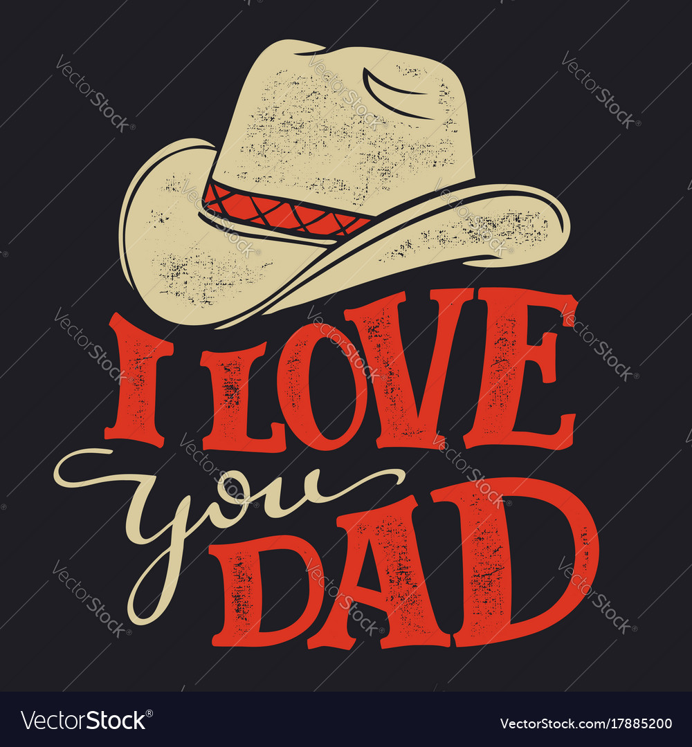 Download I love you dad fathers day Royalty Free Vector Image