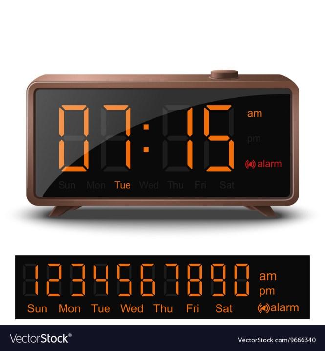 Retro Digital Alarm Clock With Orange