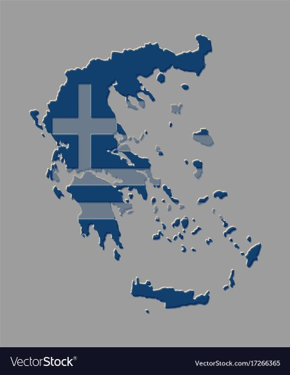 Greece map with the greek flag Royalty Free Vector Image Greece map with the greek flag vector image