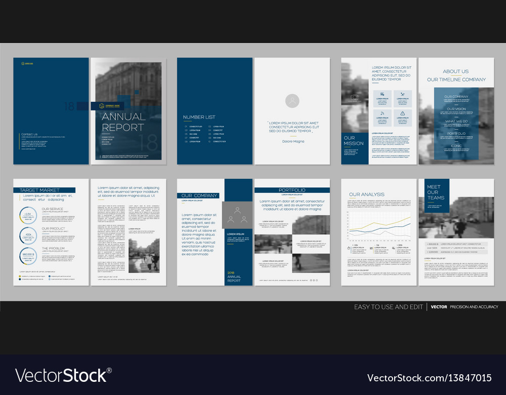 Design Annual Report Template Brochures