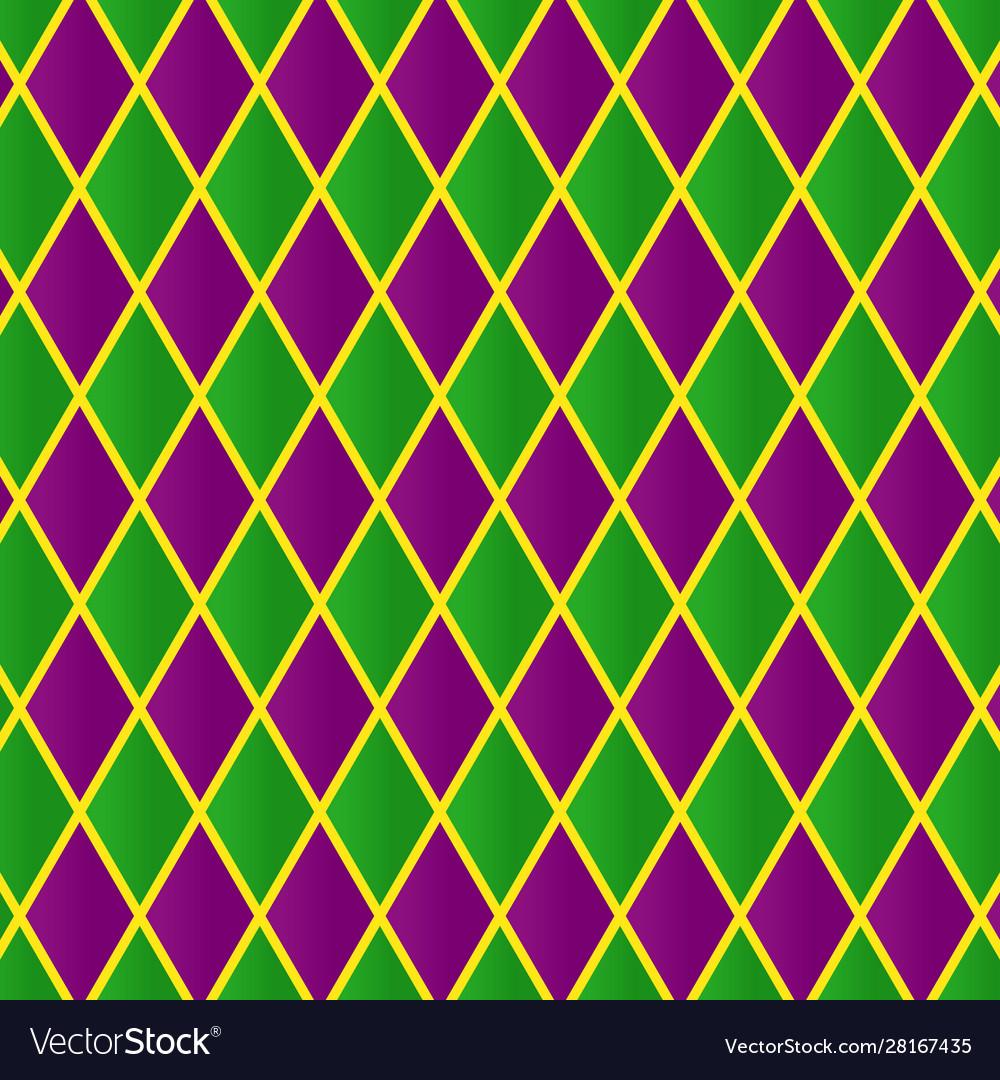 mardi gras pattern geometric tile for carnival vector image
