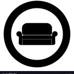 Sofa Icon Black Color In Circle Royalty Free Vector Image