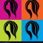 Girls Profile In Pop Art Style Royalty Free Vector Image