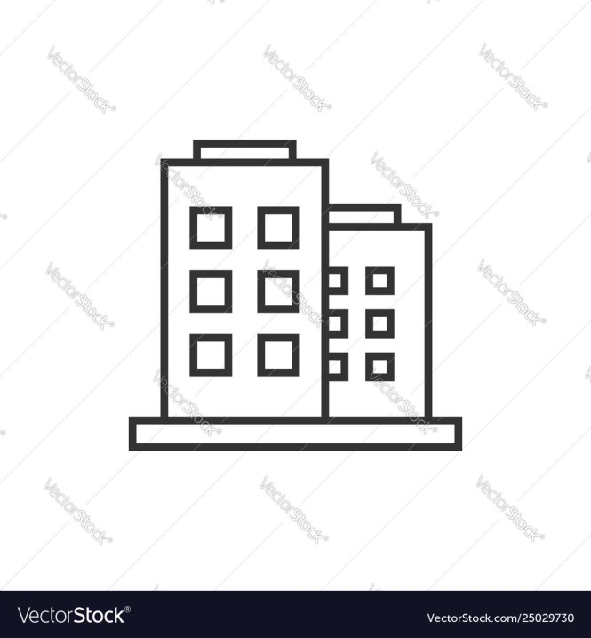 Icon In Flat Style Apartment Vector Image
