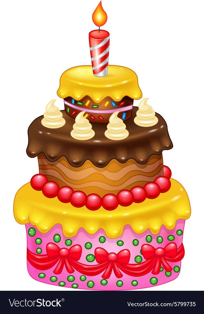 Cartoon Birthday Cake Royalty Free Vector Image
