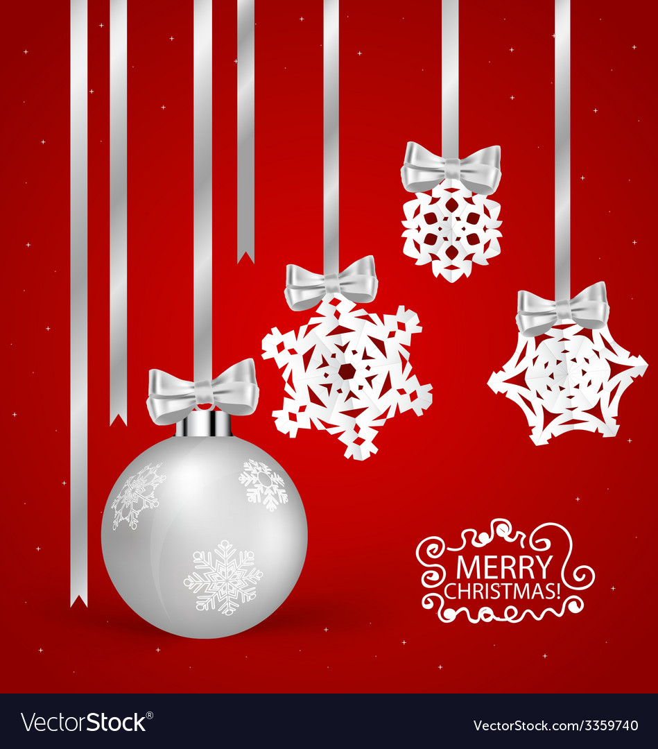 Christmas Greeting Card With Christmas Decorations