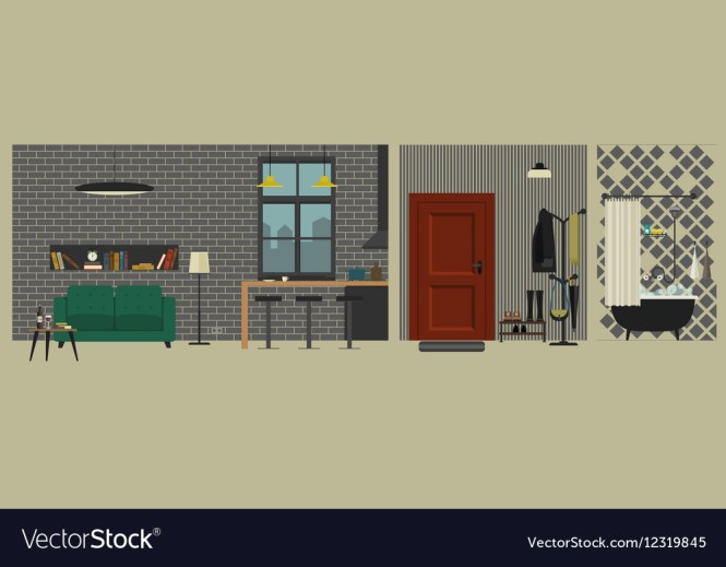 Bar In Flat Style Vector Image