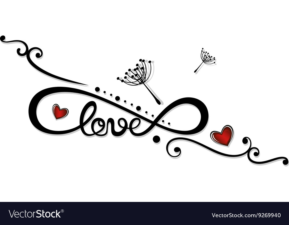 Download Infinity love Royalty Free Vector Image - VectorStock