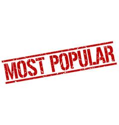 Most Popular Stamp Vector