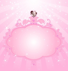 birthday princess invitation vector