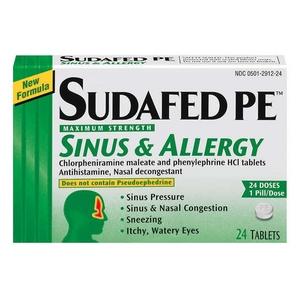 Image Result For Sudafed Pe Sinus Allergy