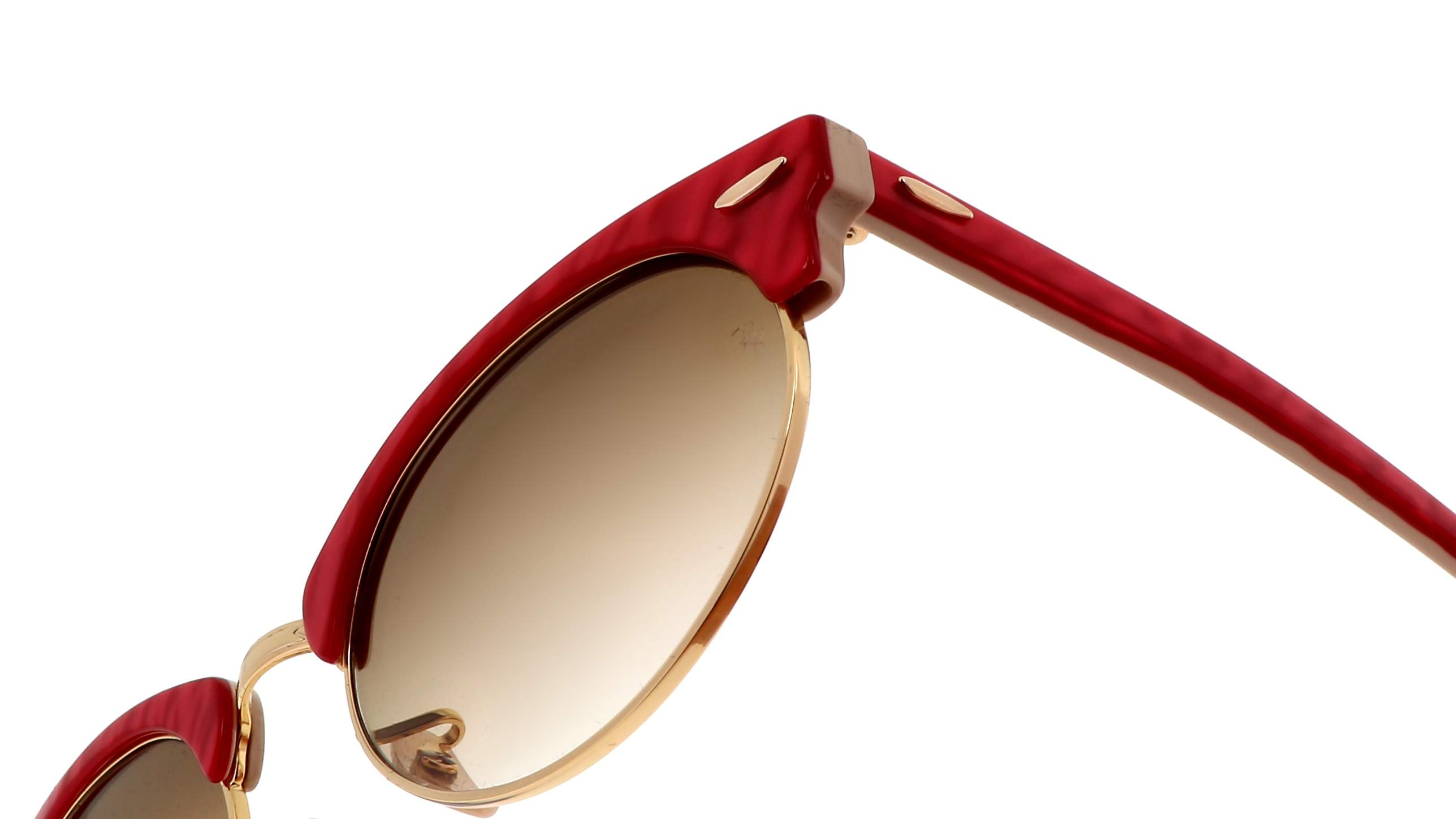ray ban clubmaster oval rot rb3946 1308 51 52 19 mittel gradient glaser