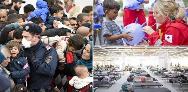 Grenzkontrollen in Österreich - Flüchtlingsstrom reißt weiterhin nicht ab.