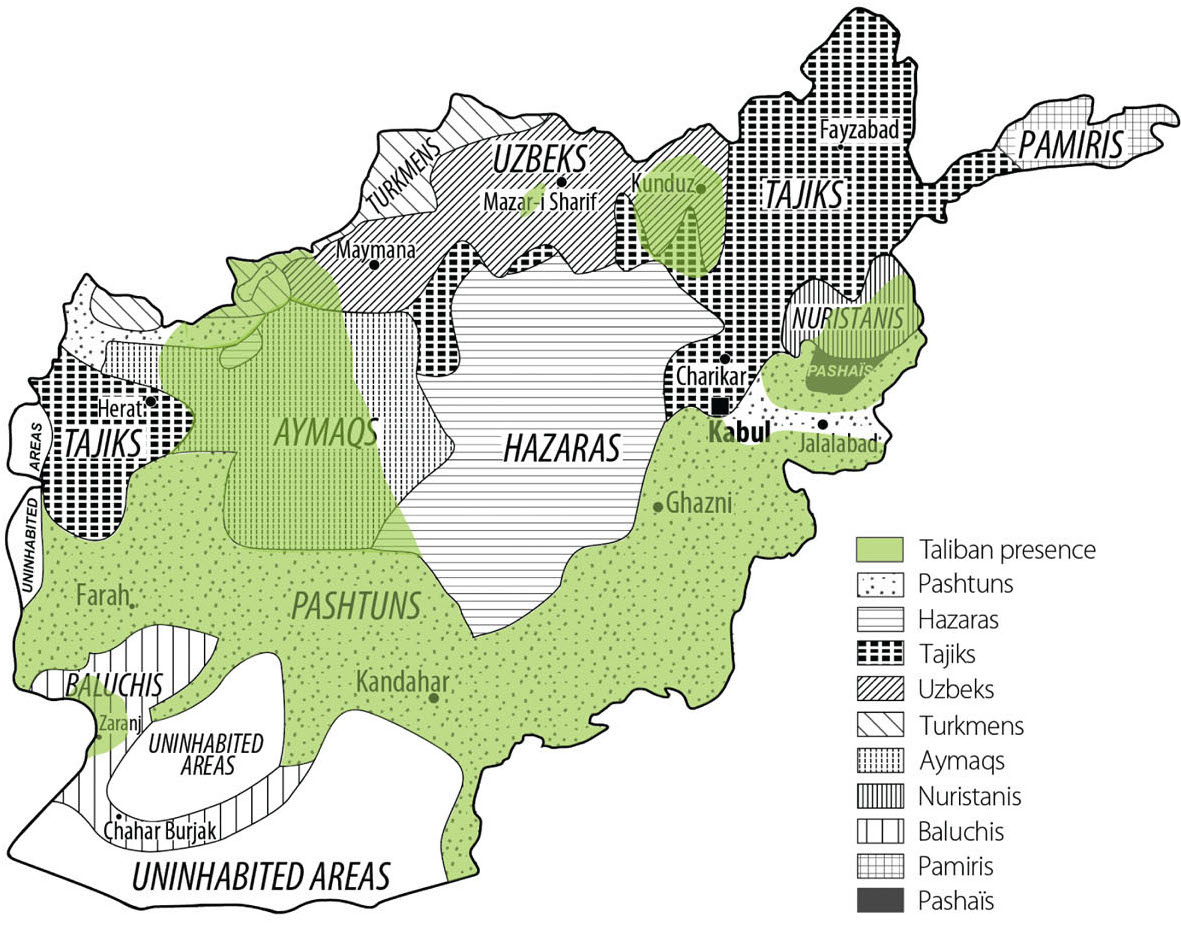 How the Taliban overlaps with ethnicity