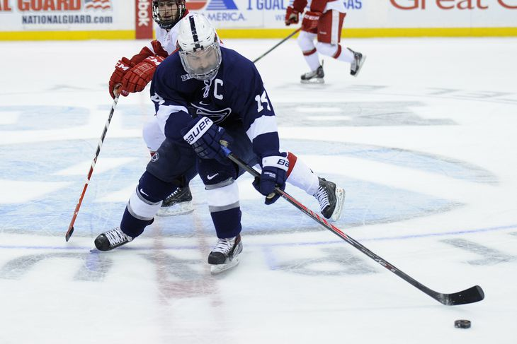 Wisconsin Hockey Recap Nittany Lions Stifle Badgers In Happy Valley