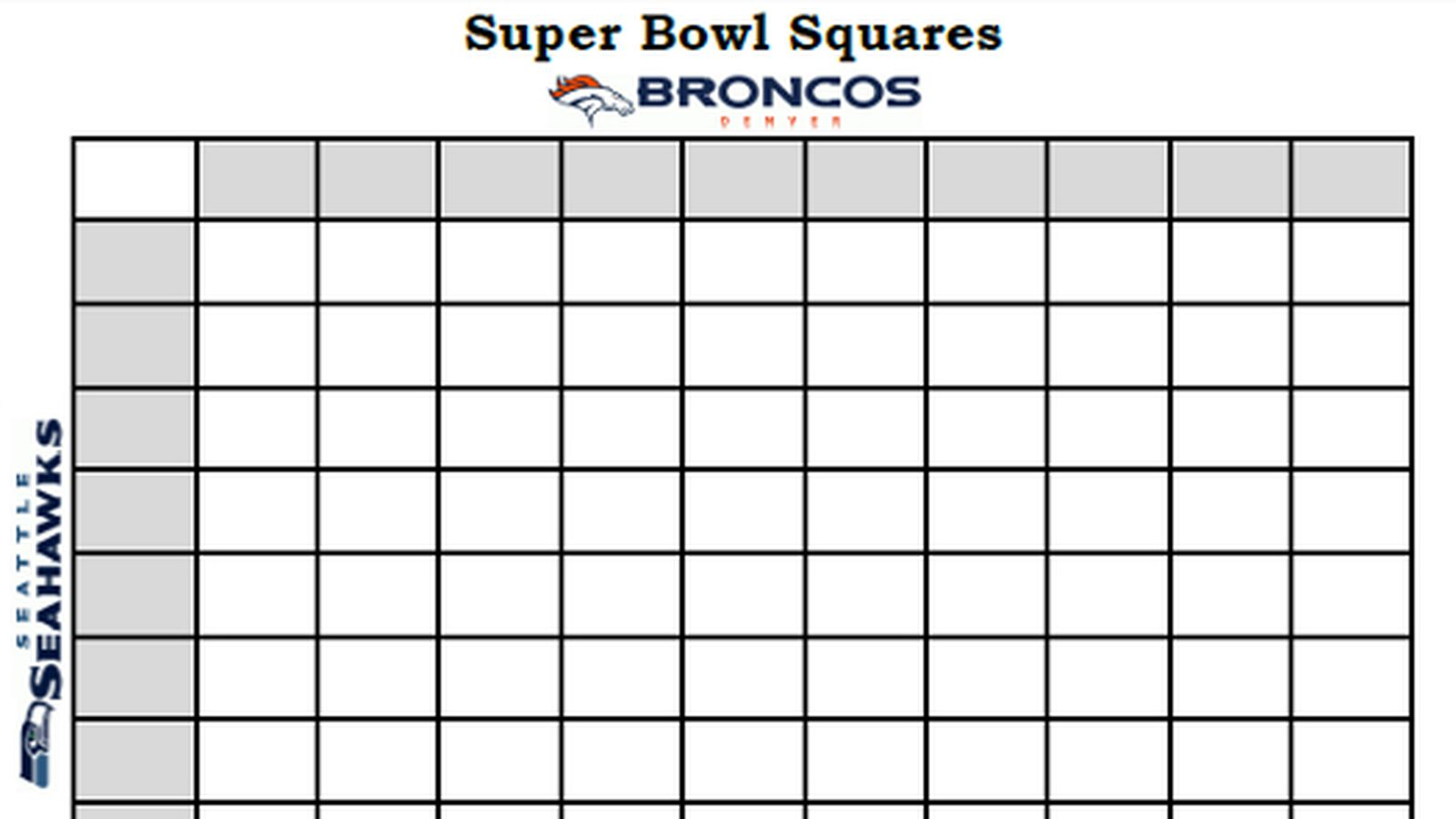 Super Bowl Squares Template Rules And More