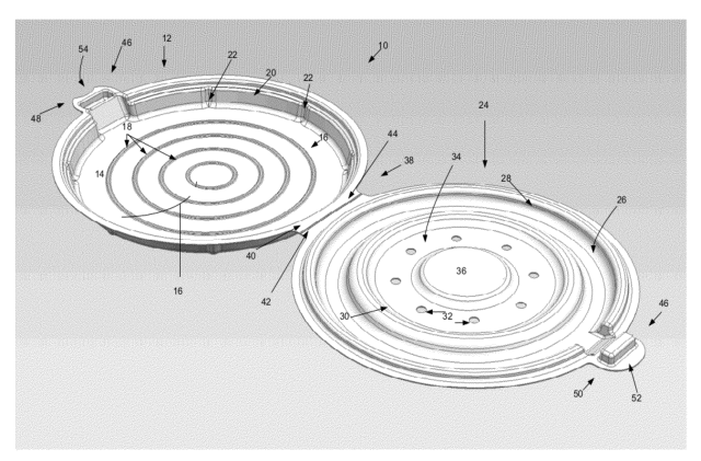 Apple pizza container patent