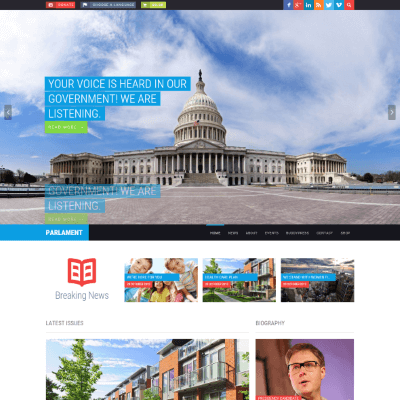 WP_Theme_Parlament_Full