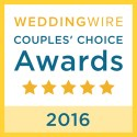 Toni Brides, WeddingWire Couples' Choice Award Winner 2016