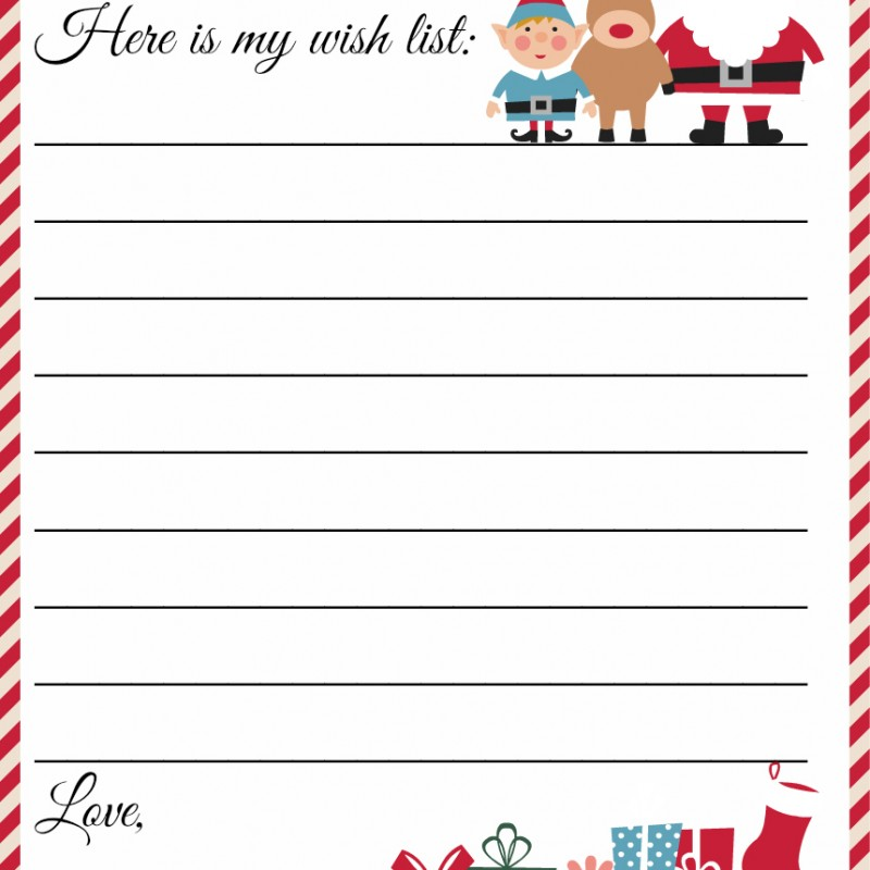 Xmas List Template santa wish list for kids kids christmas wish – Santa List Template