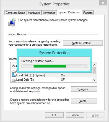 Восстановление системы - Защита системы - Создание точки восстановления 2 - Windows Wally