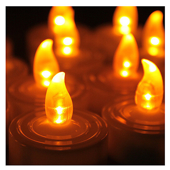 Flickering Led Candle Canvas