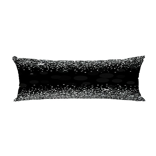 shiny silver glitter black body pillow covers pillow case protector pillowcase 20x60 inch