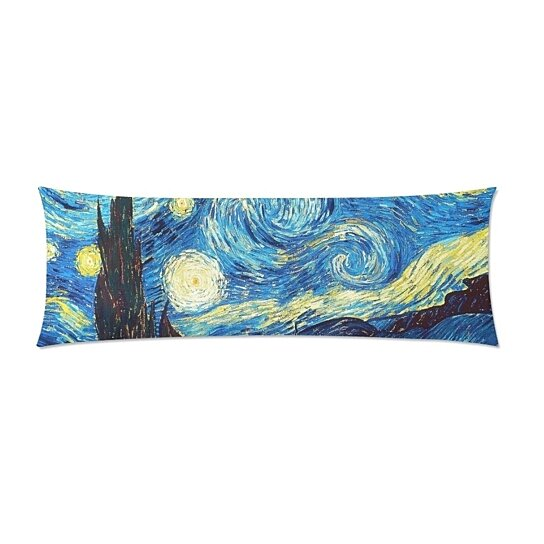 starry night vincent van gough painting night body pillow cover pillow case pillow protector cushion cover 20x60 inch