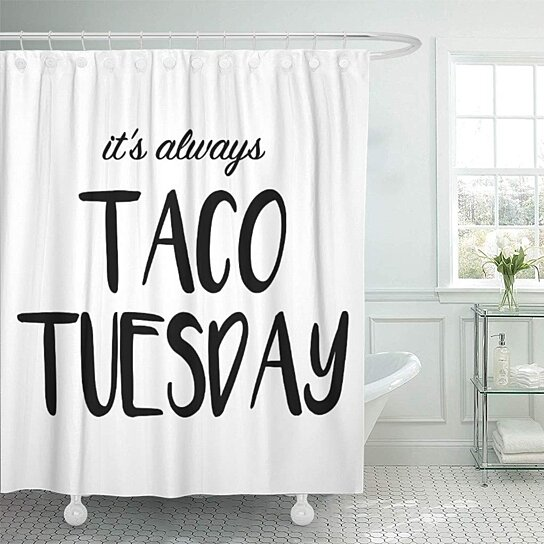 minimalist it taco tuesday modern farmhouse bathroom decor bath shower curtain 60x72 inch