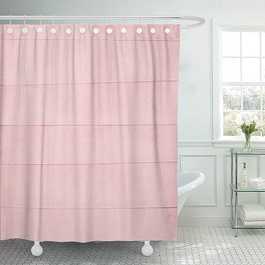 red baby blush pink watercolor girly pastel girl rose shower curtain 60x72 inch