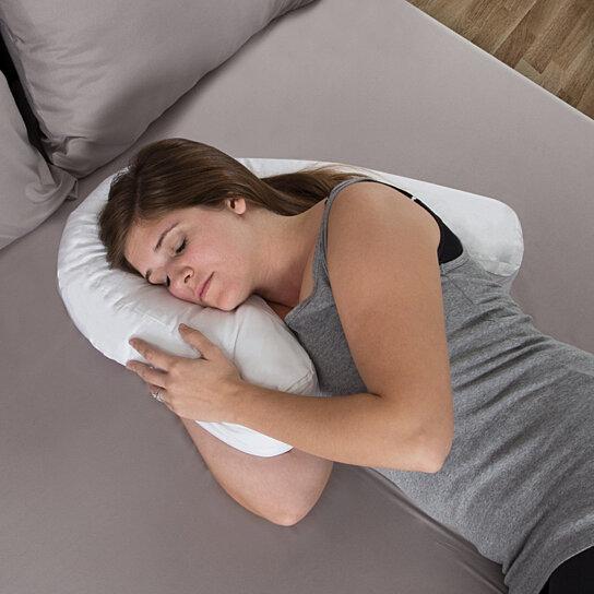 side sleeper contour pillow comforter hug pillow for neck shoulder support