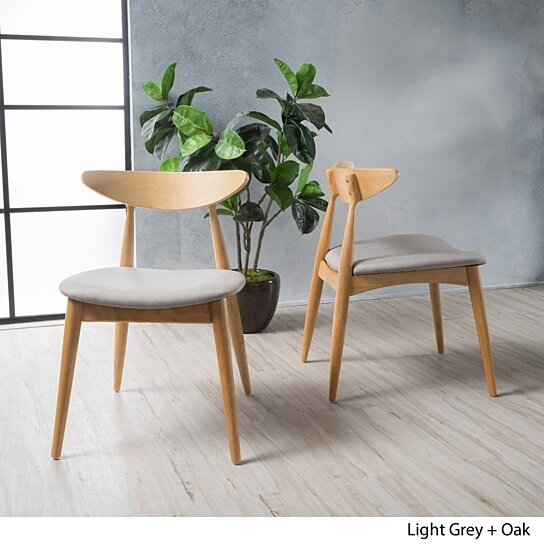 Buy Issaic Mid Century Modern Dining Chairs Set Of 2 By Gdfstudio On Dot Bo