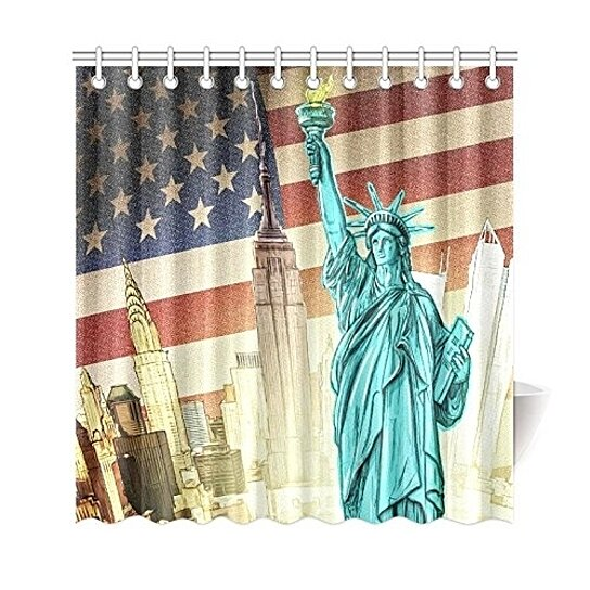 american flag shower curtain usa independence day shower curtain bathroom sets 66x72 inch