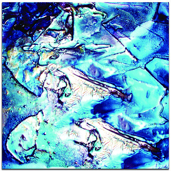 Buy Contemporary Blue Unique Metal Wall Art 'Cool Jazz ...