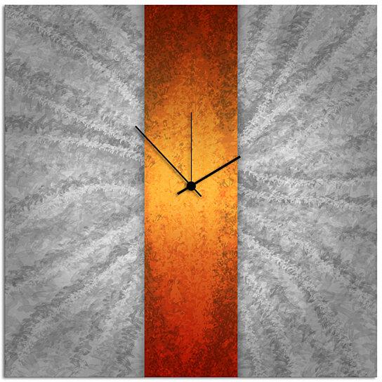 Buy Modern Wall Clock Orange Stripe Clock 22x22 In