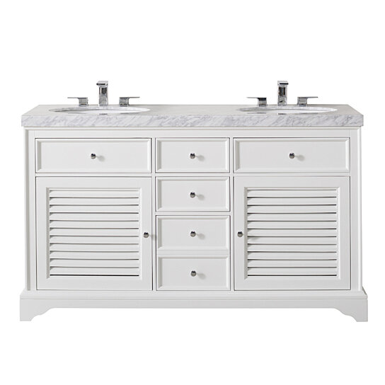 magnolia 60 inch white double sink bathroom vanity