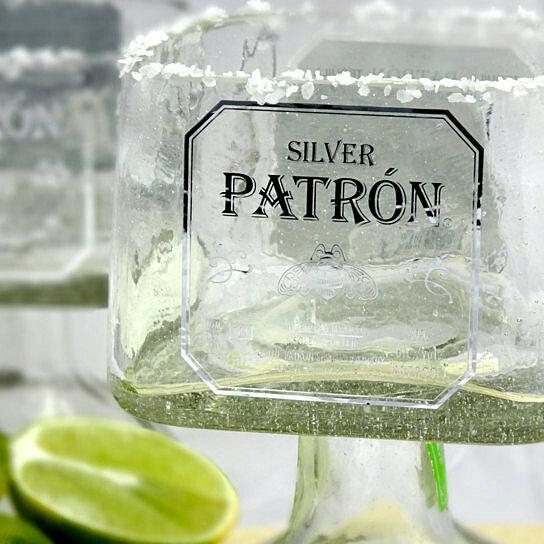Buy Patron Tequila Bottle Margarita Drinking Glass Large