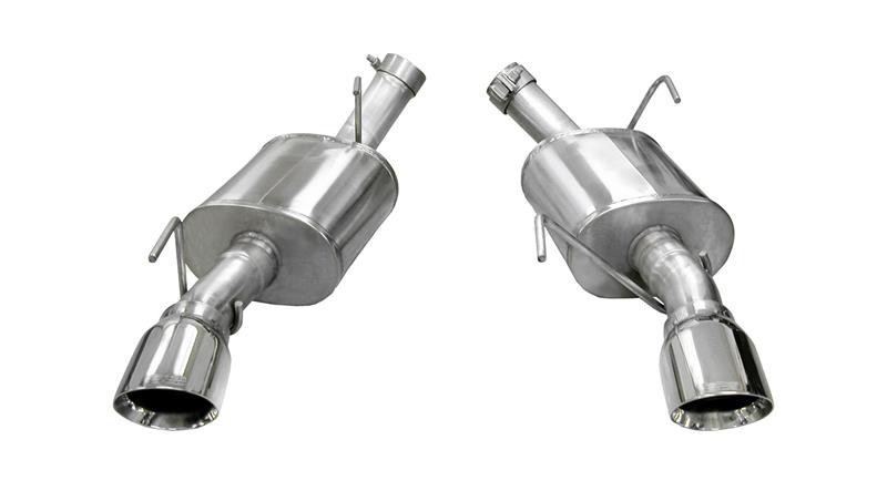 2005 10 mustang corsa xtreme axle back exhaust system polished tips