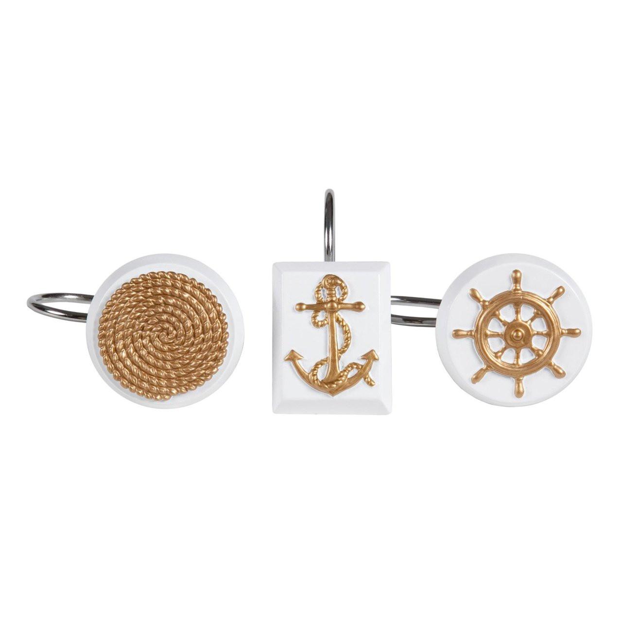 Sailing Shower Curtain Hooks Set Of 12