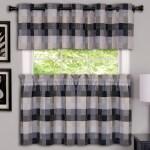 Harvard Kitchen Curtains Black Linens4less Com