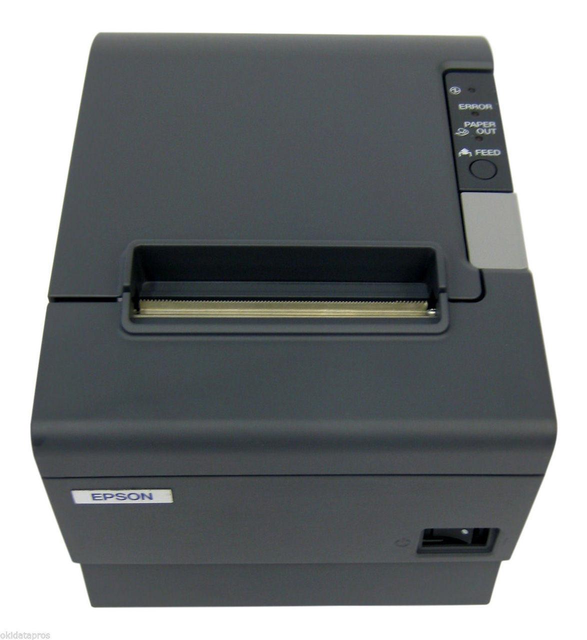 Epson Tm T88iv M129h Dark Gray Thermal Receipt Printer Ethernet Interface