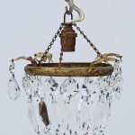 Antique Quality Small Ormolu Brass Crystal Chandelier Free Delivery Prior Willis Antiques