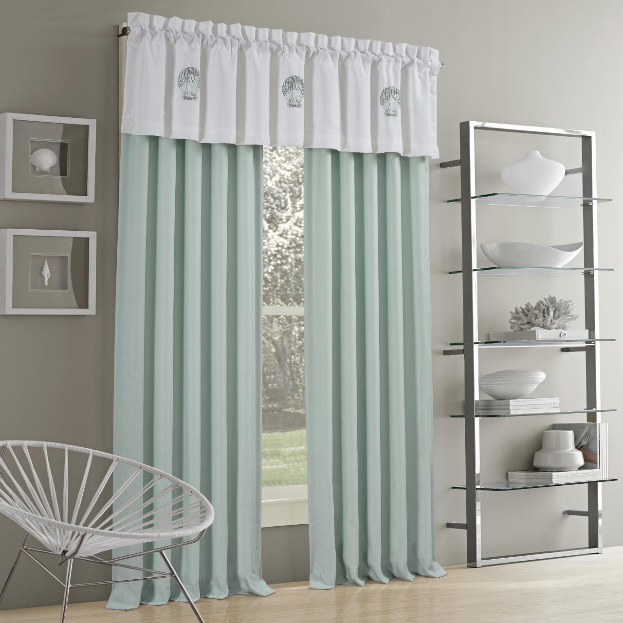 water s edge aqua curtain pair