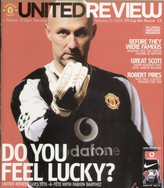 Manchester United V Arsenal FA Cup 2003 - Sporting Greats