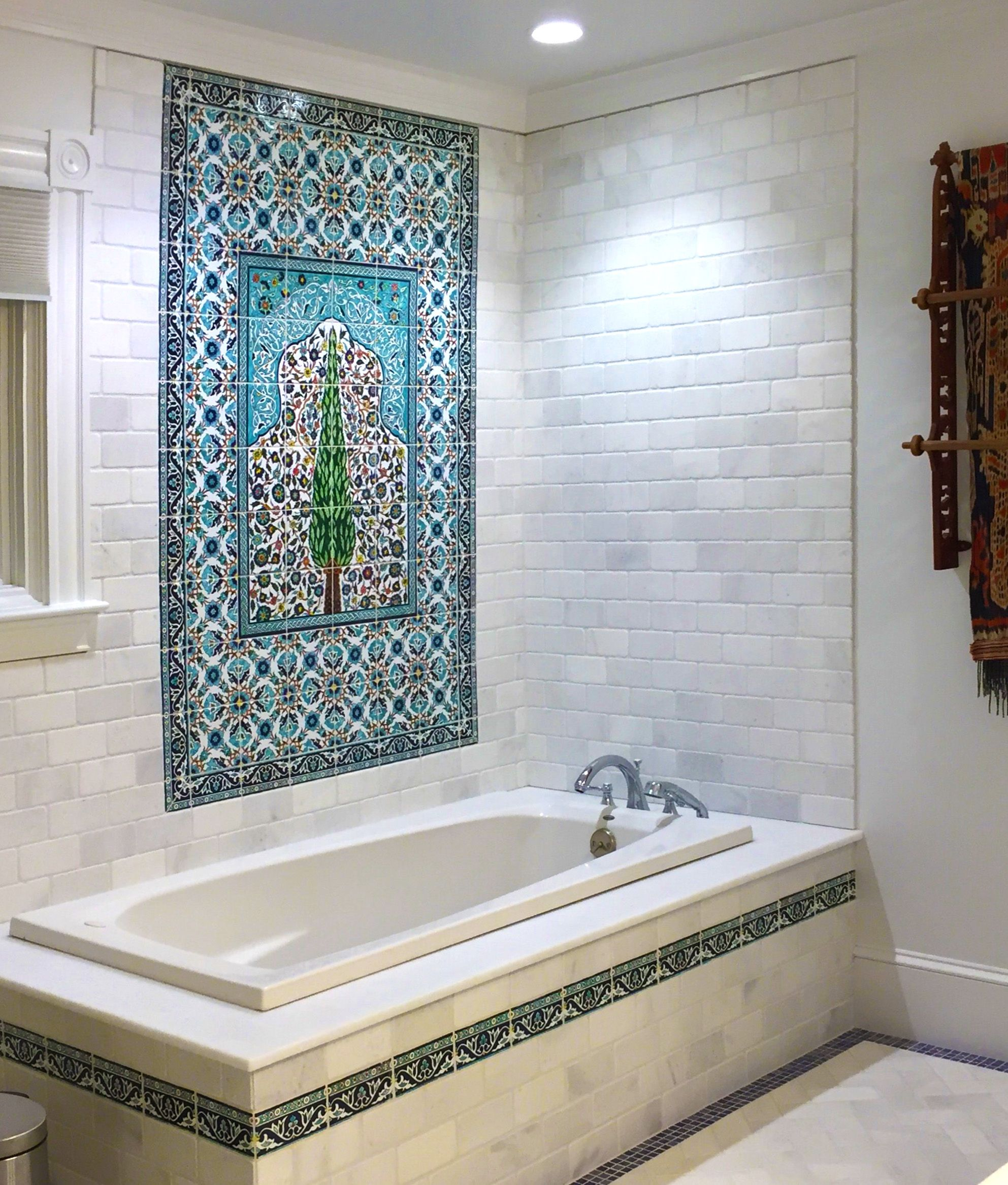 hand painted tile murals rustica house