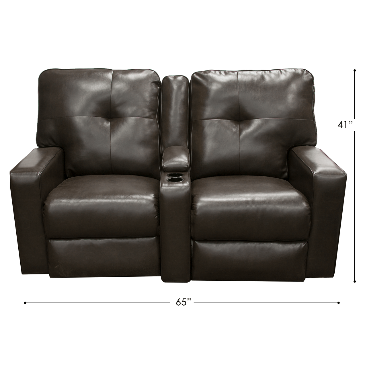 chocolate rv reclining couch
