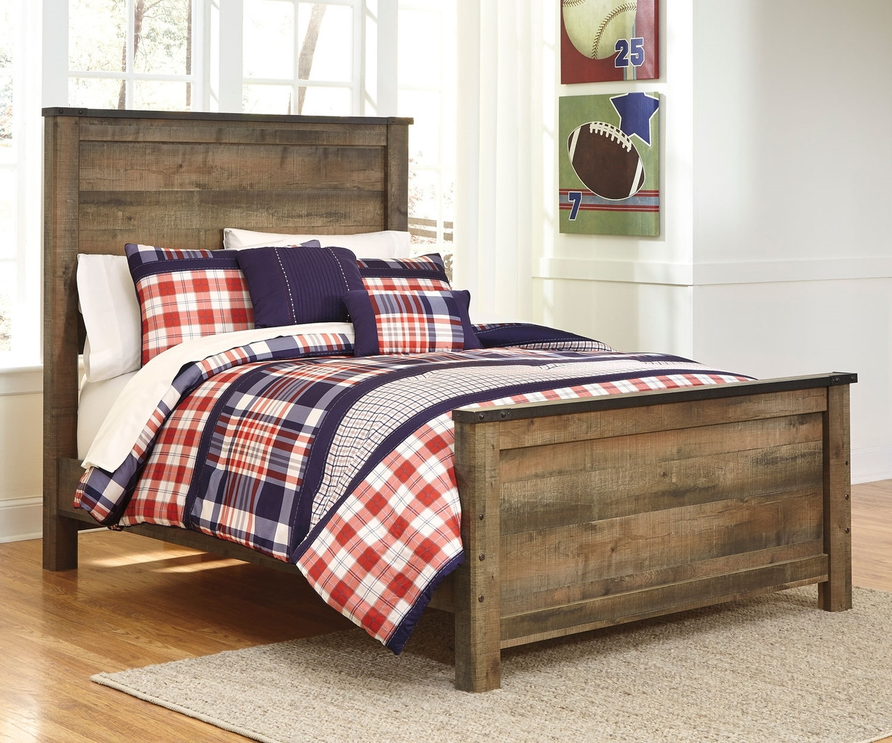 Trinell B446 Full Size Panel Bed Ashley Kids Furniture Boys And Girls Bedroom Furniture