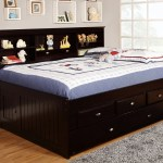 Espresso Full Size Bookcase Captain S Day Bed With Trundle Kfw