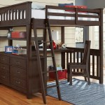 11080 Full Size Loft Bed With Desk In Espresso Finish Everglades Collection Ne Kids Furniture