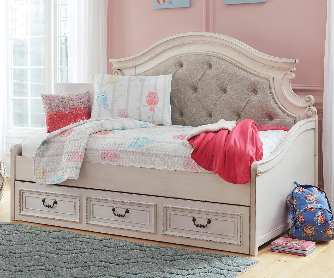 Realyn Twin Size Upholstered Day Bed B743 Ashley Kids Furniture Kids Teens Bedroom Furniture